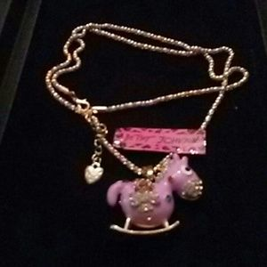 Betsy Johnson Rocking Horse Necklace